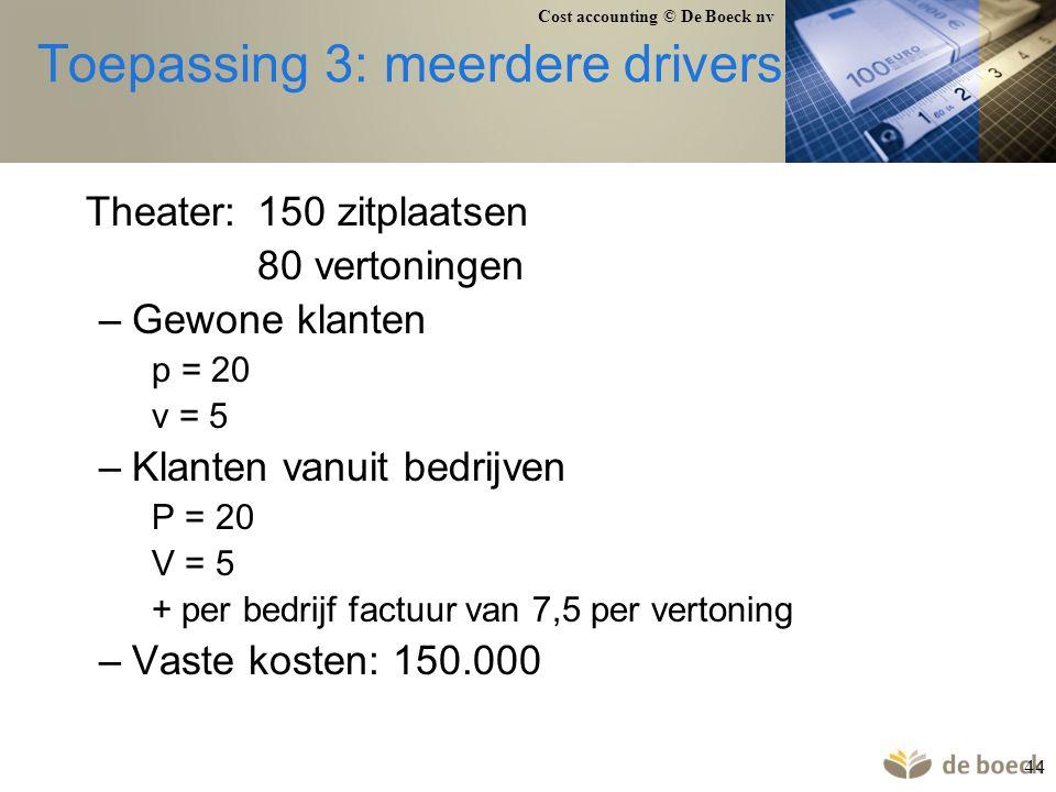 Toepassing 3: meerdere drivers
