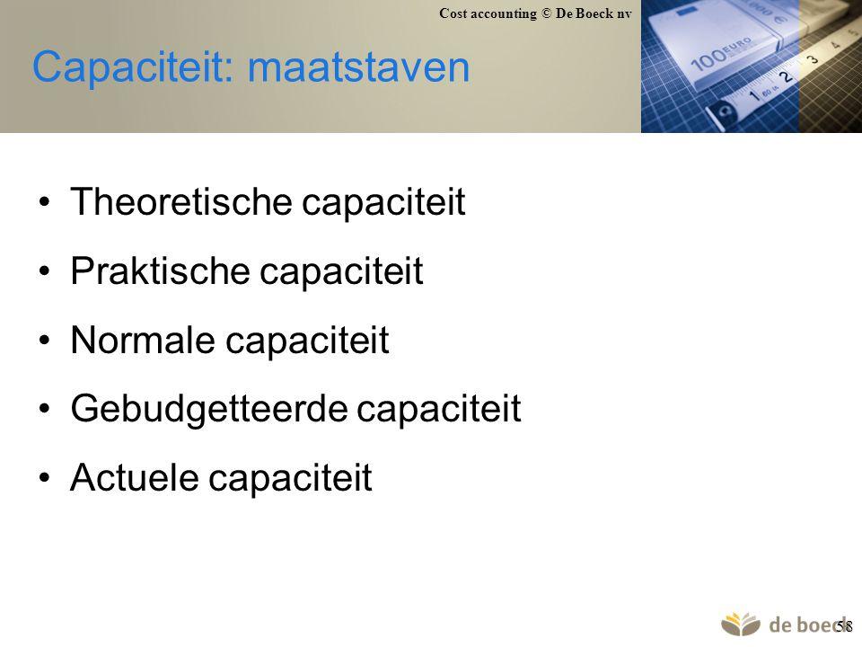Capaciteit: maatstaven