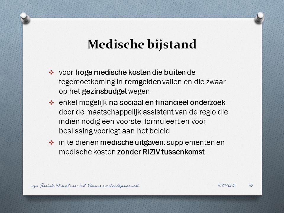 Medische bijstand voor hoge medische kosten die buiten de tegemoetkoming in remgelden vallen en die zwaar op het gezinsbudget wegen.