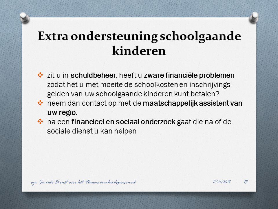 Extra ondersteuning schoolgaande kinderen