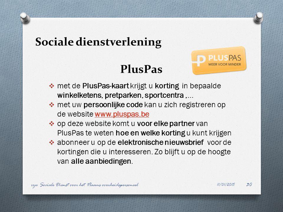 Sociale dienstverlening PlusPas
