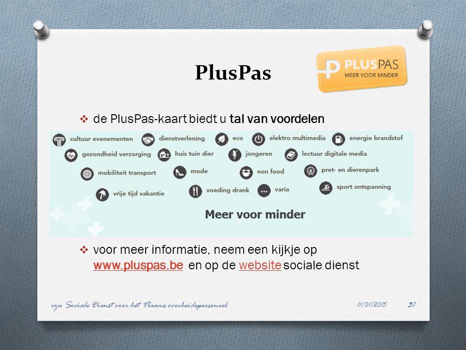 PlusPas de PlusPas-kaart biedt u tal van voordelen