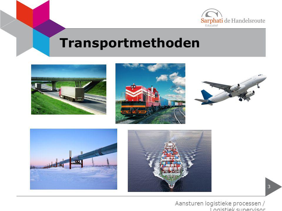 Transportmethoden Aansturen logistieke processen / Logistiek supervisor