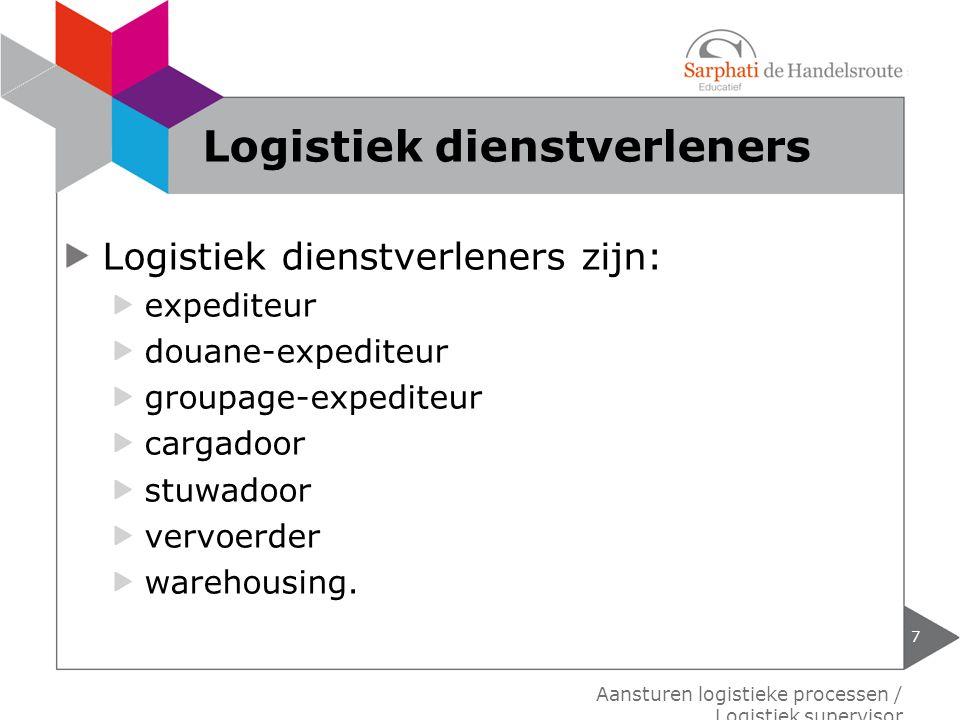 Logistiek dienstverleners