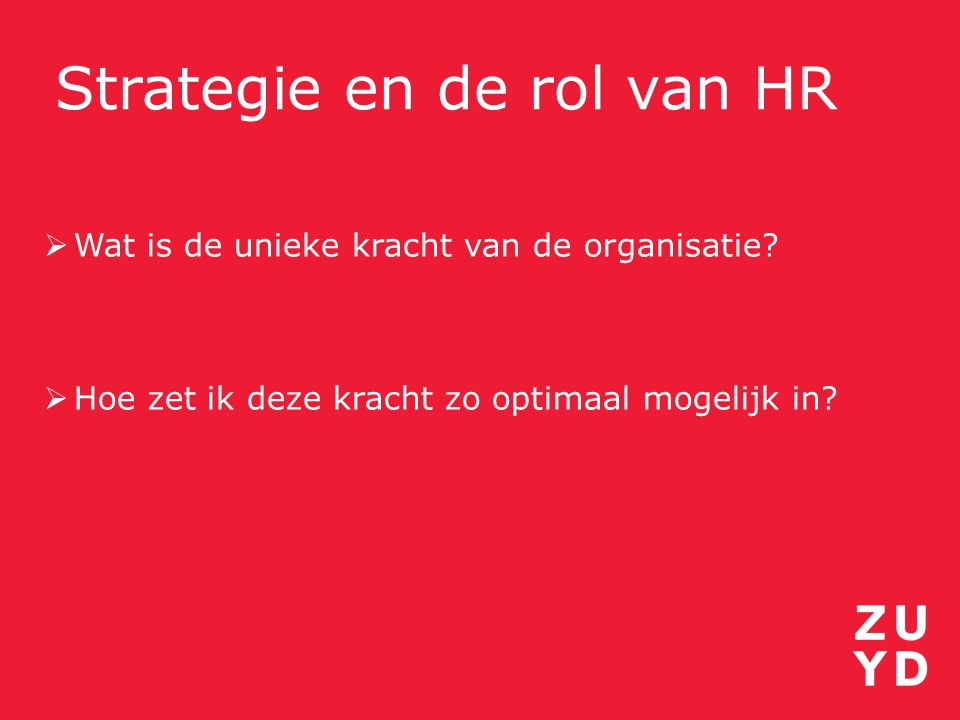 Strategie en de rol van HR