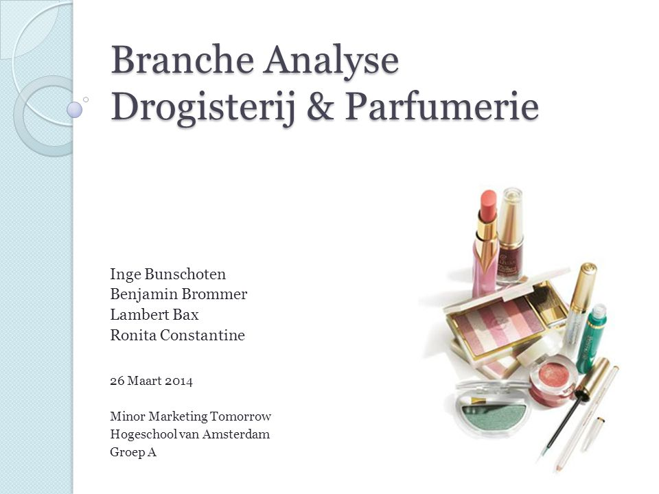 Branche Analyse Drogisterij & Parfumerie