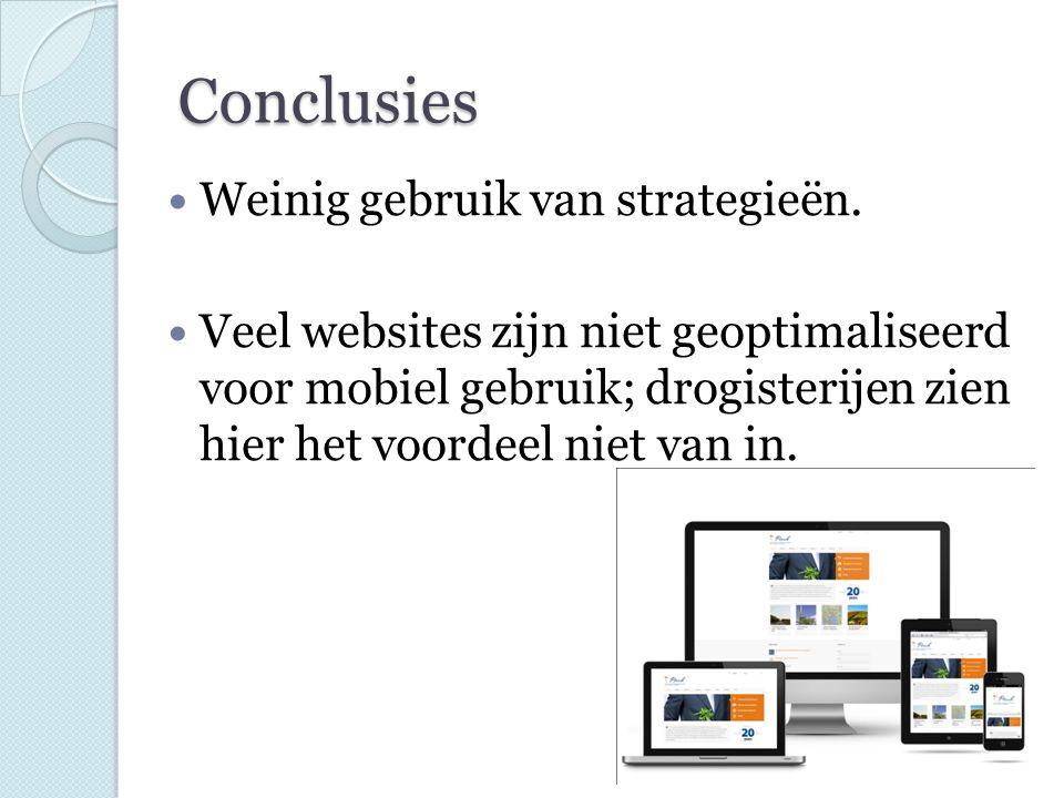 Conclusies Weinig gebruik van strategieën.