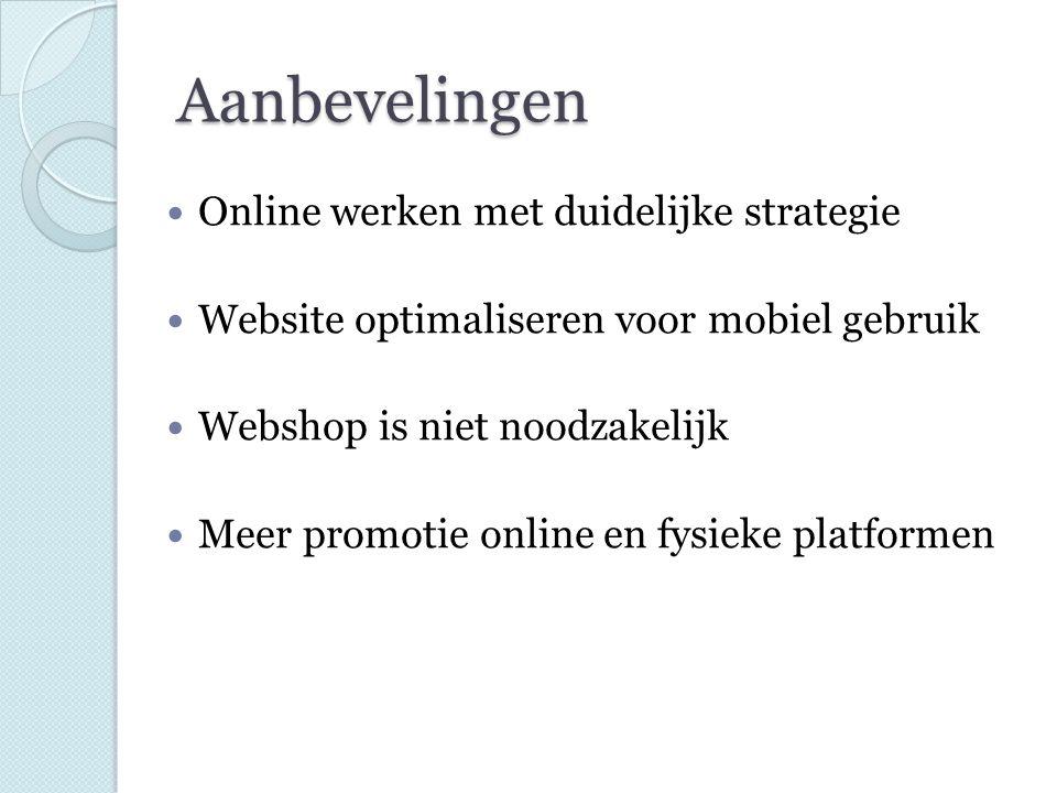 Aanbevelingen Online werken met duidelijke strategie