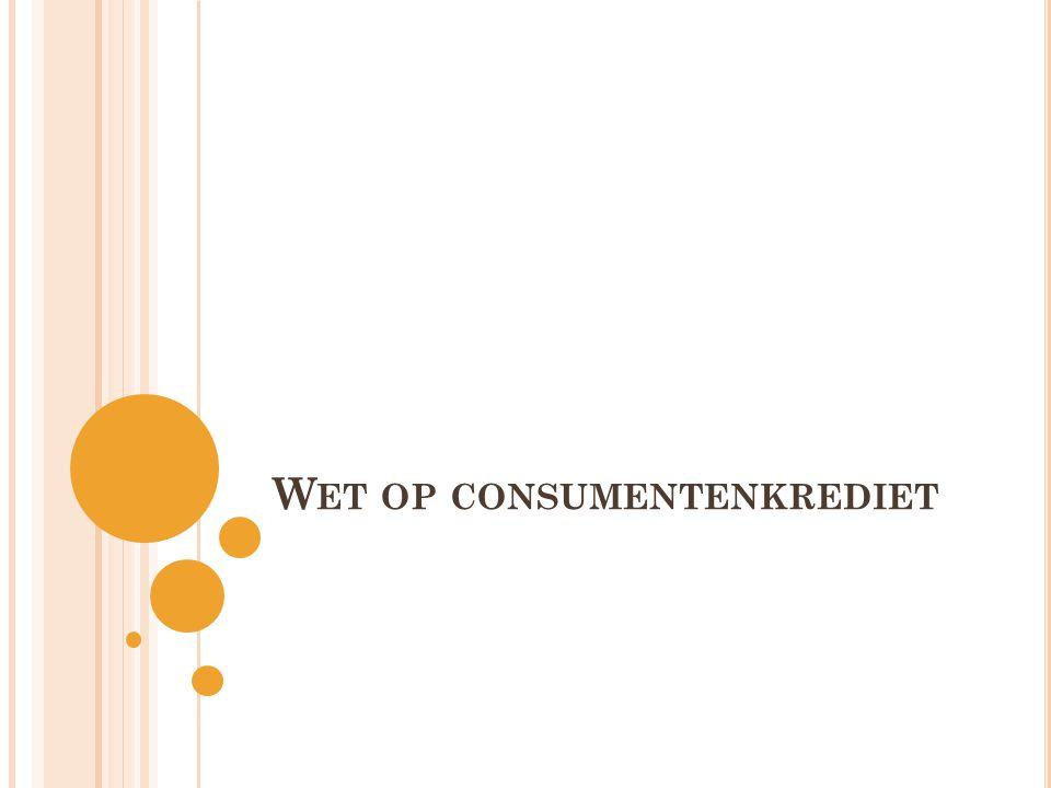 Wet op consumentenkrediet