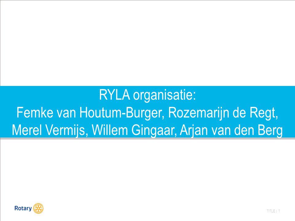 RYLA organisatie: Femke van Houtum-Burger, Rozemarijn de Regt, Merel Vermijs, Willem Gingaar, Arjan van den Berg