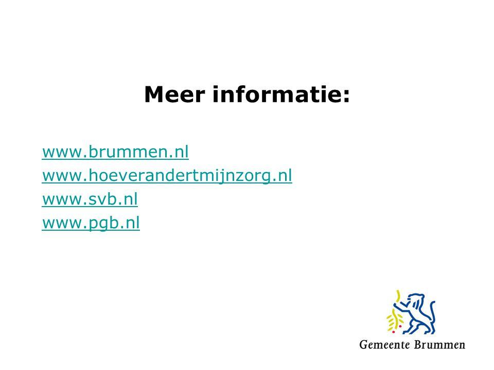 www.brummen.nl www.hoeverandertmijnzorg.nl www.svb.nl www.pgb.nl
