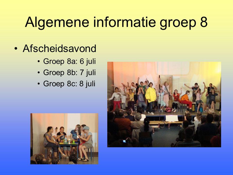 Algemene informatie groep 8