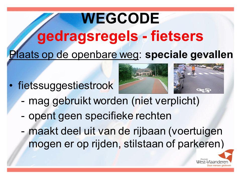 WEGCODE gedragsregels - fietsers