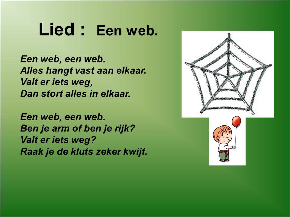 Een web, een web. Alles hangt vast aan elkaar. Valt er iets weg,