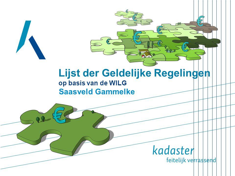 Lijst der Geldelijke Regelingen op basis van de WILG