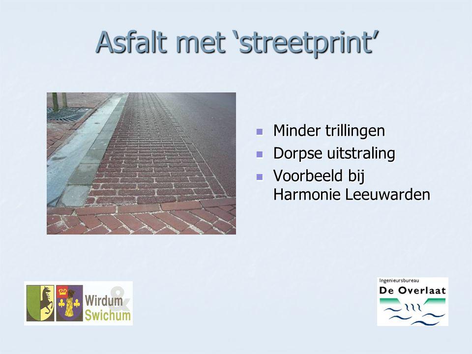 Asfalt met 'streetprint'