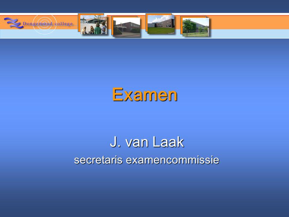 secretaris examencommissie