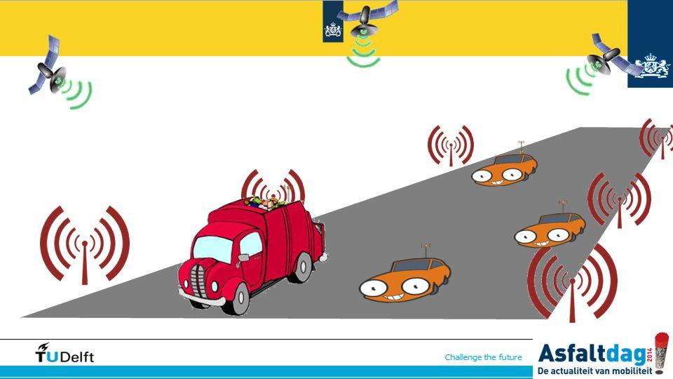 Als de sensoren geen gebruik maken van de markeringen, maar van signalen langs de kant van de weg, of zelfs sateliet systemen zouden we in principe geen markeringen meer nodig hebben. Dan wordt het mogelijk de capaciteit echt flexibel in te delen door afhankelijk van de intensiteit meer of minder stroken en met een andere snelheid beschikbaar te stellen.