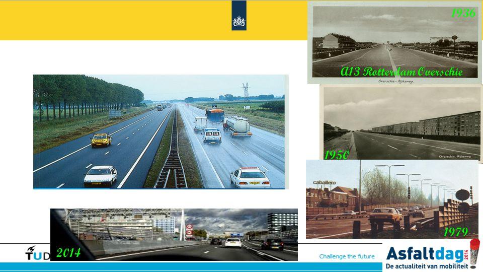 1936 A13 Rotterdam Overschie. 1950. 1979. 2014.