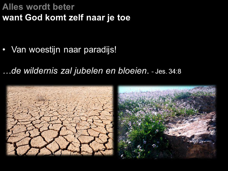 Alles wordt beter want God komt zelf naar je toe. Van woestijn naar paradijs.