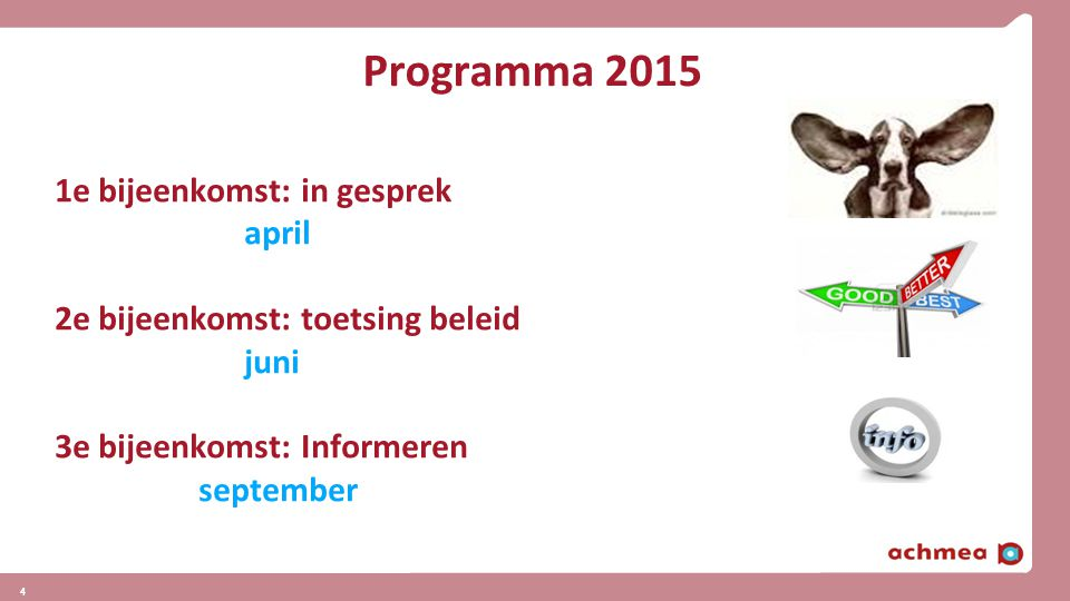 Programma 2015 1e bijeenkomst: in gesprek april
