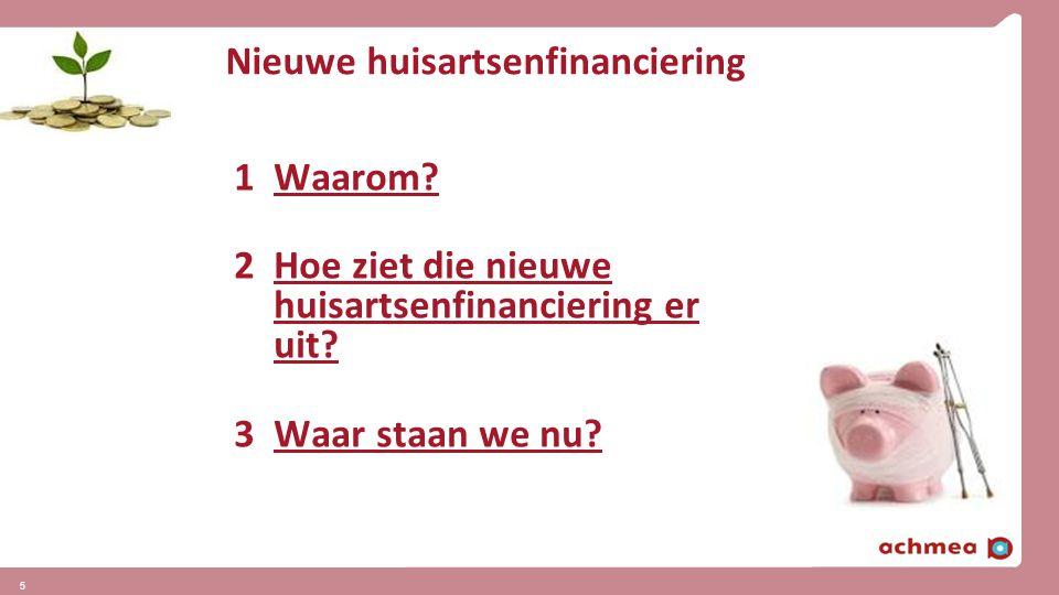 Nieuwe huisartsenfinanciering