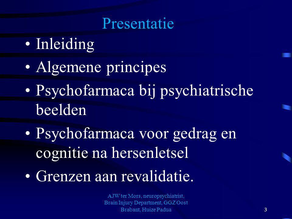 Psychofarmaca bij hersenletsel en is er een grens aan revalidatie.