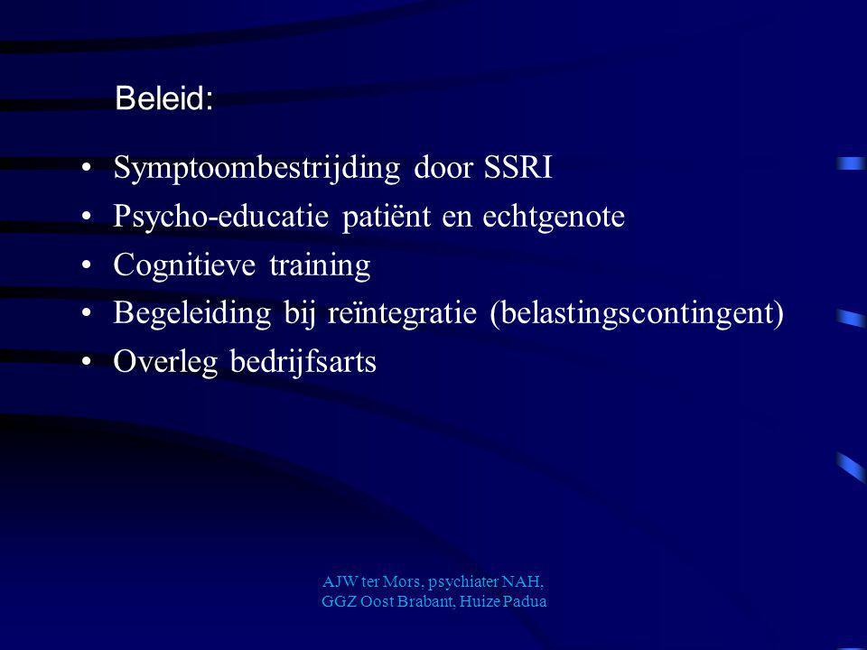 Cognitieve stoornissen na hypoxische encephalopathie