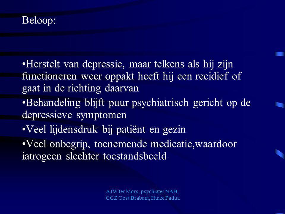 AJW ter Mors, psychiater NAH, GGZ Oost Brabant, Huize Padua