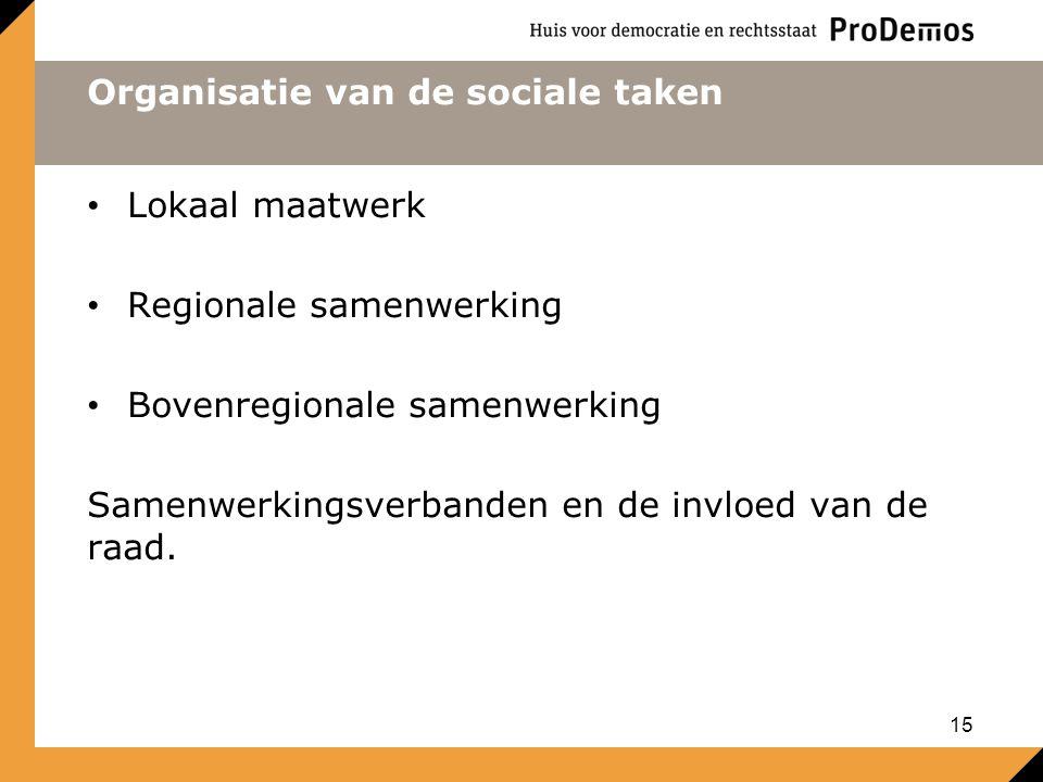 Organisatie van de sociale taken