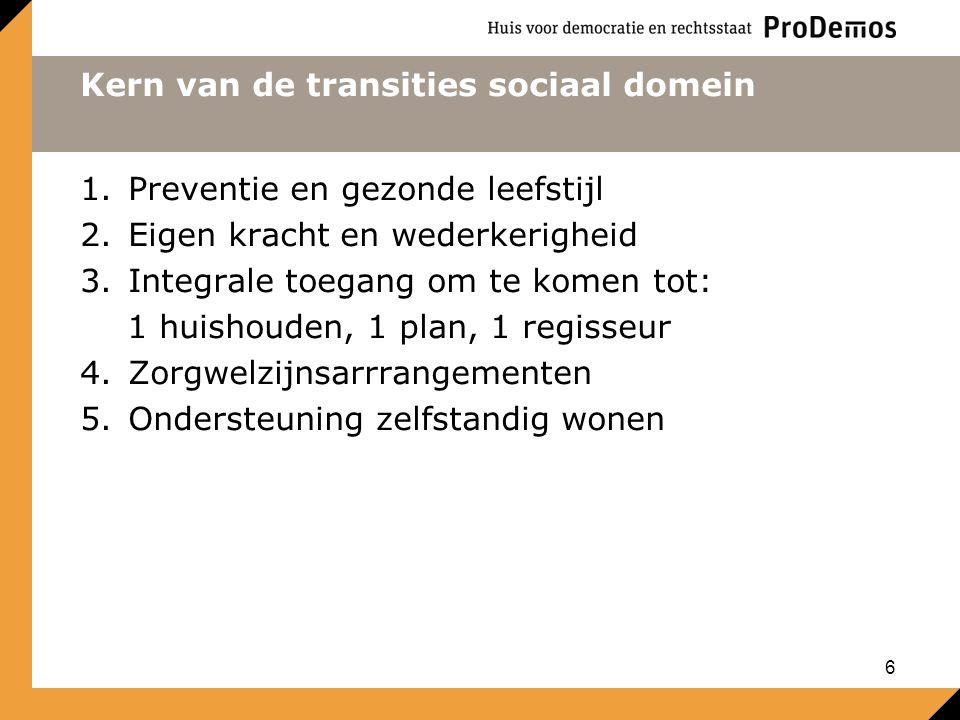 Kern van de transities sociaal domein