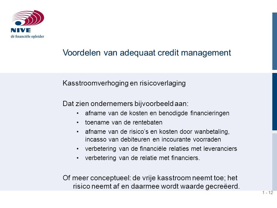 Voordelen van adequaat credit management