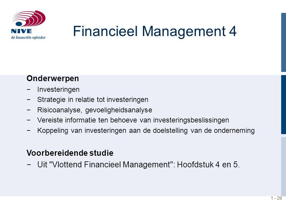 Financieel Management 4