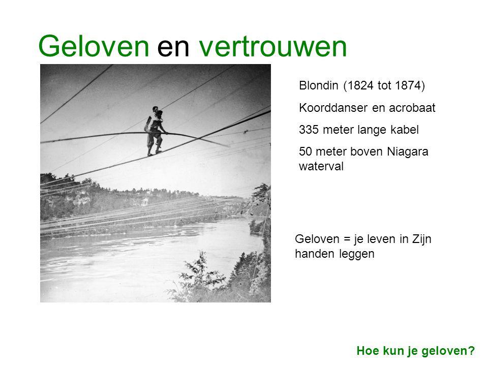 Geloven en vertrouwen Blondin (1824 tot 1874) Koorddanser en acrobaat