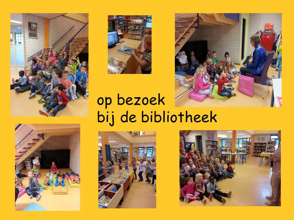 op bezoek bij de bibliotheek
