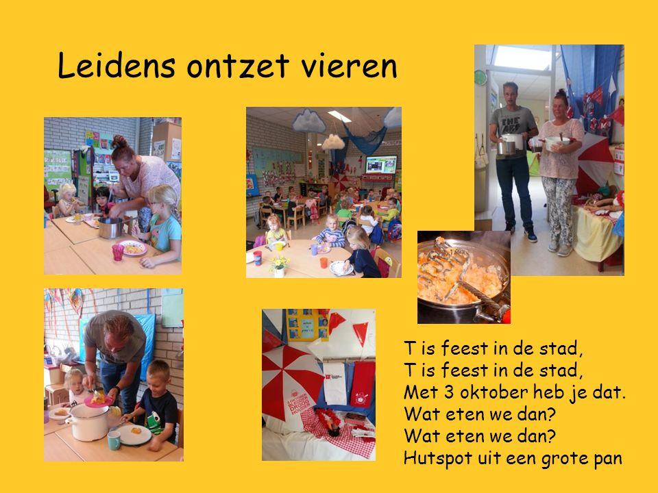Leidens ontzet vieren T is feest in de stad, Met 3 oktober heb je dat.