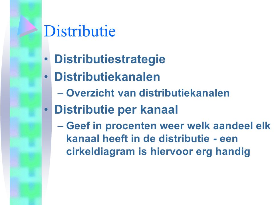 Distributie Distributiestrategie Distributiekanalen