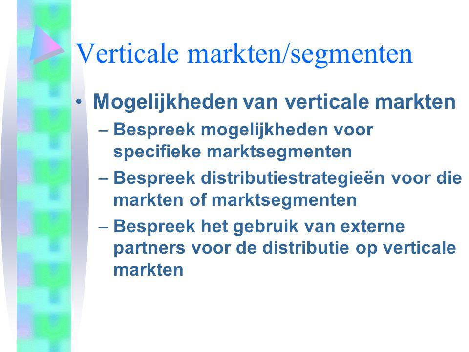 Verticale markten/segmenten