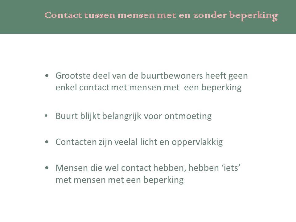 Contact tussen mensen met en zonder beperking
