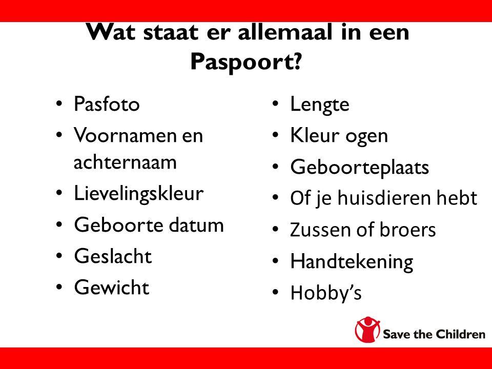 Wat staat er allemaal in een Paspoort