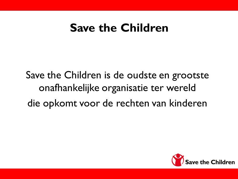 die opkomt voor de rechten van kinderen