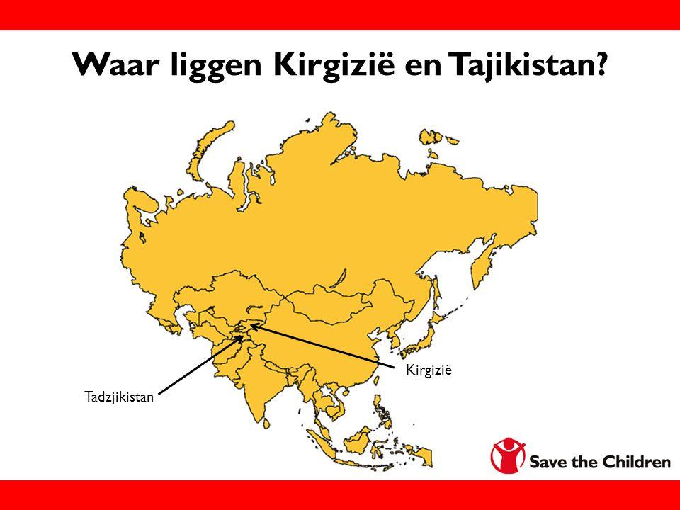 Waar liggen Kirgizië en Tajikistan