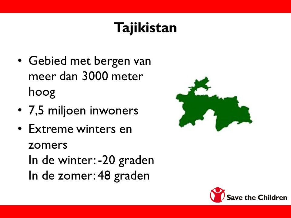 Tajikistan Gebied met bergen van meer dan 3000 meter hoog