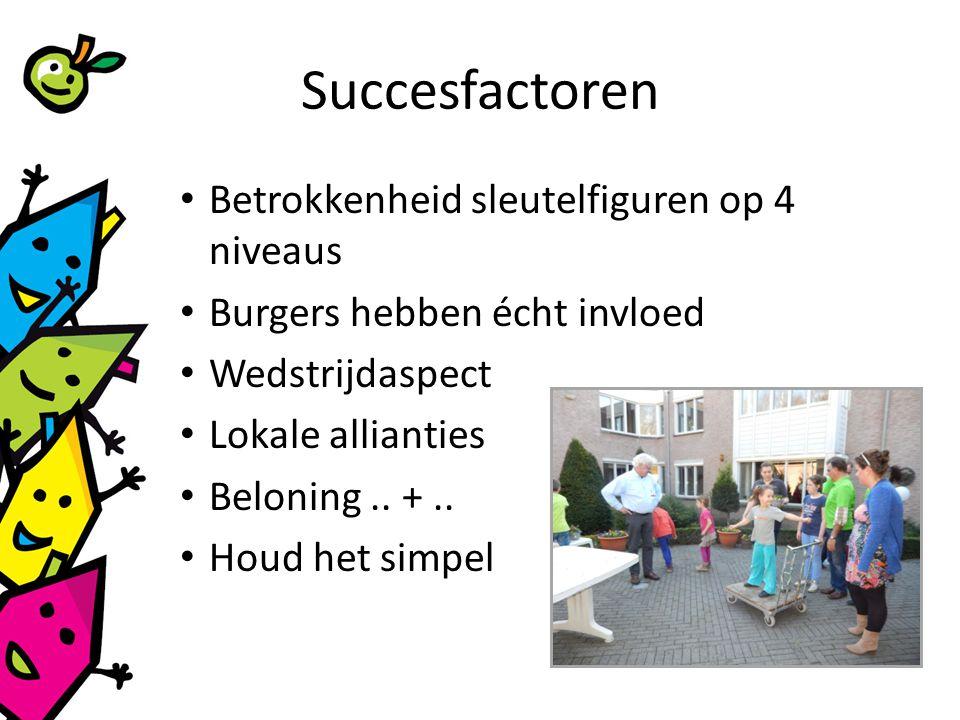 Succesfactoren Betrokkenheid sleutelfiguren op 4 niveaus