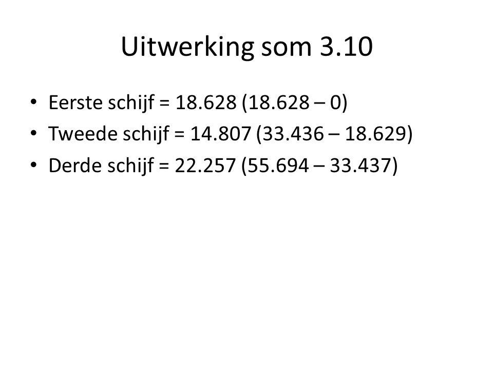 Uitwerking som 3.10 Eerste schijf = 18.628 (18.628 – 0)