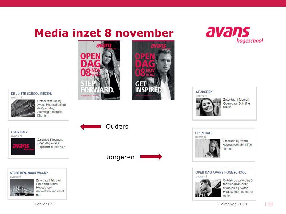 Media inzet 8 november Ouders Jongeren