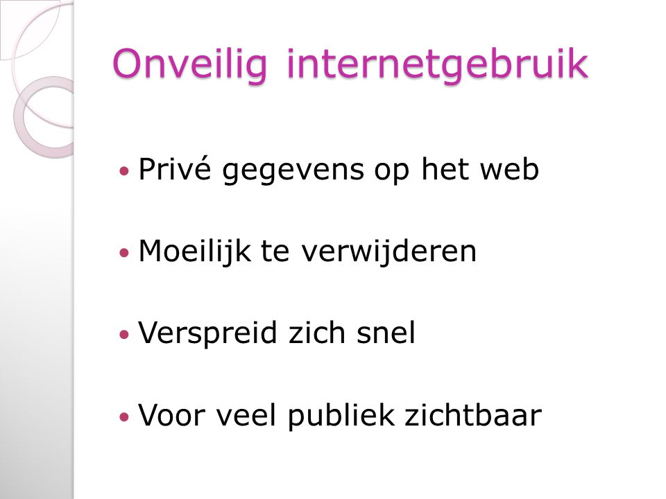 Onveilig internetgebruik