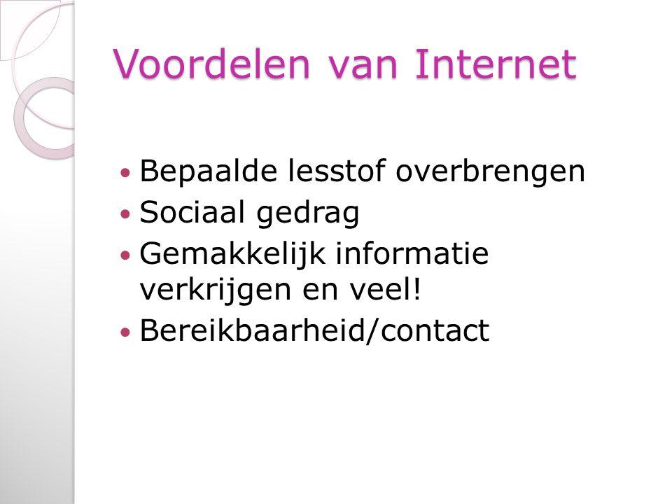 Voordelen van Internet