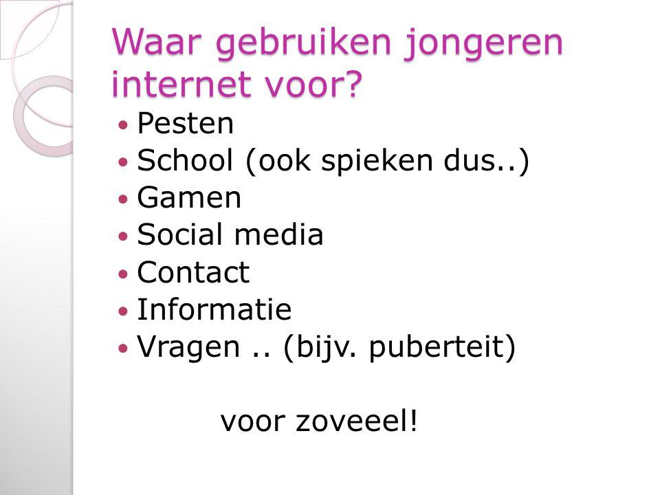 Waar gebruiken jongeren internet voor