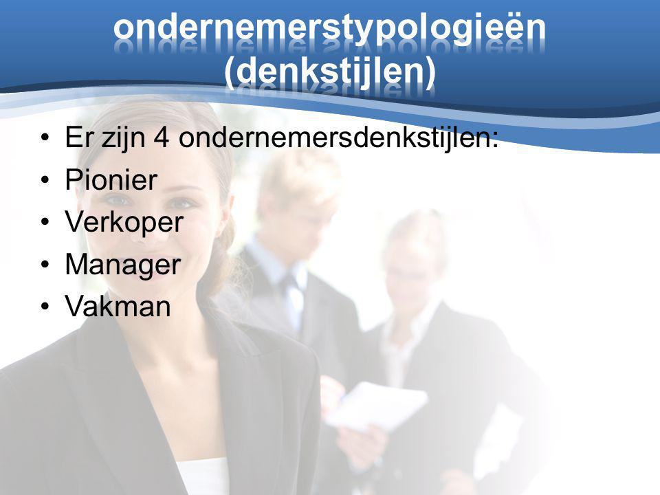 ondernemerstypologieën (denkstijlen)